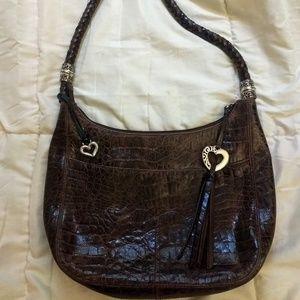 Brighten large  leather shoulder bag